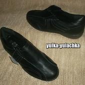 Комфортные туфли-мокасины Кожаная стелька