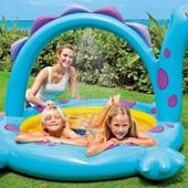 Яркий детский бассейн с душем Динозавр 57437