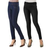 Джегинсы черные S-M Esmara стрейчевые джинсы джеггинсы
