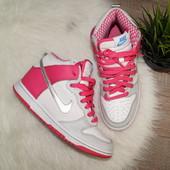 (38,5р./24см) Nike! Кожа! Оригинал! Классные кроссовки, хайтопы
