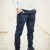 Штаны F&F chinos dark blue