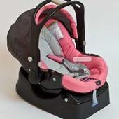 Автокресло+БАЗА Chicco розовое!!!как новое