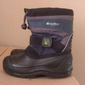 классные теплые сноубутсы на мороз и слякоть, термо-ботинки, 18см