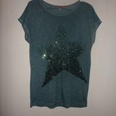 S-M  футболка со звездой из паеток