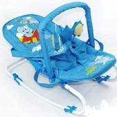 Шезлонг для младенцев синий