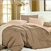Комплект постельного белья Сатин однотонный, смкс №221+№165