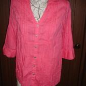 Фирменная хлопоковая стильная рубашка на 48 размер идеал