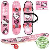 Скейт детский деревянный Hello Kitty арт. 0052