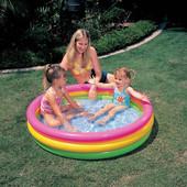 Детский надувной бассейн Intex 57412 «Радужный», 114 х 25 см Интекс