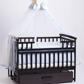 детская кроватка трансформер с шкафчиком