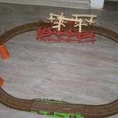 Fisher-Price железная дорога Thomas Томас серия Trackmaster Шатающийся мост+ паровозик