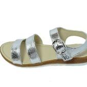 Сандалии женские кожа Eva Multi-Shoes серебристые (реплика)