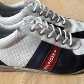 Кожаные туфли фирменные Tommy Hilfiger р.41-26см.