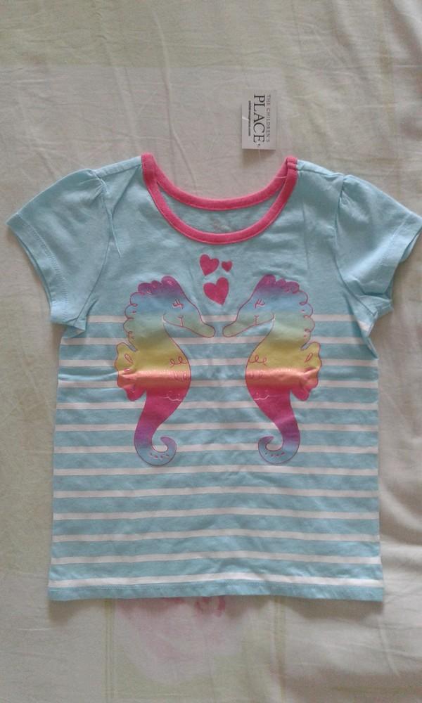 Продам новую футболочку девочке 4т children's place. фото №1
