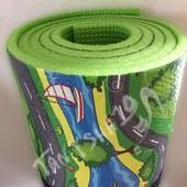 Дороги - большой размер 2*1,1м - развивающий детский коврик каремат Киндер пол