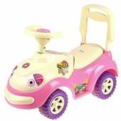 Машинка каталка луноход луноходик орион 174 розовая толкатель машина