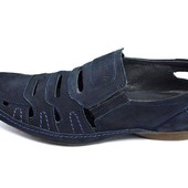 Сандалии мужские Van Kristi DT 521 синие (реплика)