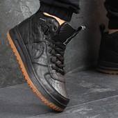 Кроссовки мужские кожа Nike Lunar Force 1black