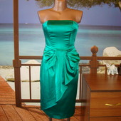 Вечернее платье-бюстье изумрудного цвета р.6-8  Oasis