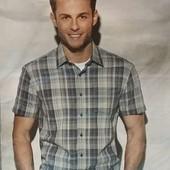 Тениска , рубашка в клетку  Crane(германия)  размер М и ХЛ