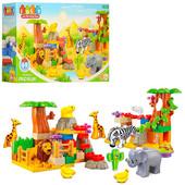 Конструктор (аналог лего дупло, lego duplo) Зоопарк JDLT 5036