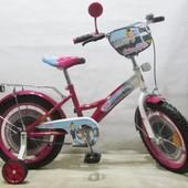 """Двухколесный велосипед Tilly Стюардеса 16"""" (T-21626) Малиновый"""