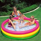 Надувной детский игровой бассейн Интекс 57412 ( 114 х 25 см)