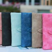 Компактный женский кошелёк, нубук, 3 цвета