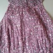 Шелковое платье мелкое плиссе Naf-Naf XS-S