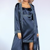 Женский комплект для дома из сатина (халат и сорочка) Yesenia от Livia Corsetti Супер цена!