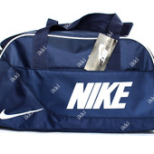 Спортивная женская сумки синего цвета реплика Nike (051-с)
