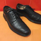 Супермягкие туфли р.41-41.5 (7,5) Clarks structured, Вьетнам, натур.кожа.