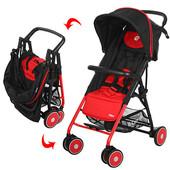 Прогулочная легкая коляска Pilot red