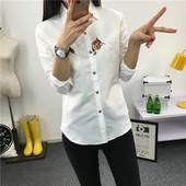 Блузка белая с вышивкой