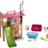 Barbie Комната для животных Барби pet room & accessories playset