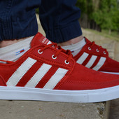 Мужские спортивные кеды кроссовки адидас Adidas красные