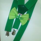 зеленый набор подтяжки бабочка