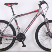 Горный велосипед 29 дюйма (19 рама) Azimut Crosser grim (2017 года) серо-красный***