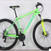 Горный велосипед 26 дюйма (19 и 21 рама) Azimut Crosser hunter (2017 года) салатовый***