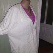 Льяний піджак великого розміру