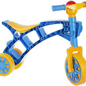 Роллоцикл 3 колеса Технок 3220 3831 ролоцикл беговел голубо-желтый