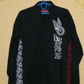 Мужская черная рубашка р. 52-54 Bigness