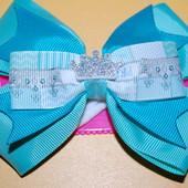 Резинка для волос бантик Princess бирюзовый код м154