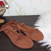 39 25,5см h&m Плетеные босоножки сандалии