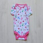 Новый бодик с коротким рукавом для девочки. TU. Размер 6-9 месяцев