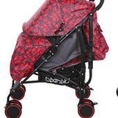 Коляска детская прогулочная M 3430-2 красная***