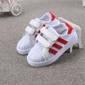 Распродажа!!Стильные кросовки  на липучке, на лето, сеточка