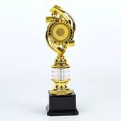 Награда спортивная (приз спортивный) с местом под жетон YK-137C, золото: пластик, высота 29см