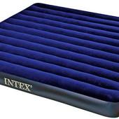 68755 Матрас надувной велюровый Интекс Intex 203 183 22