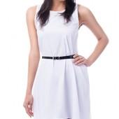 Стильное белое женское платье на лето